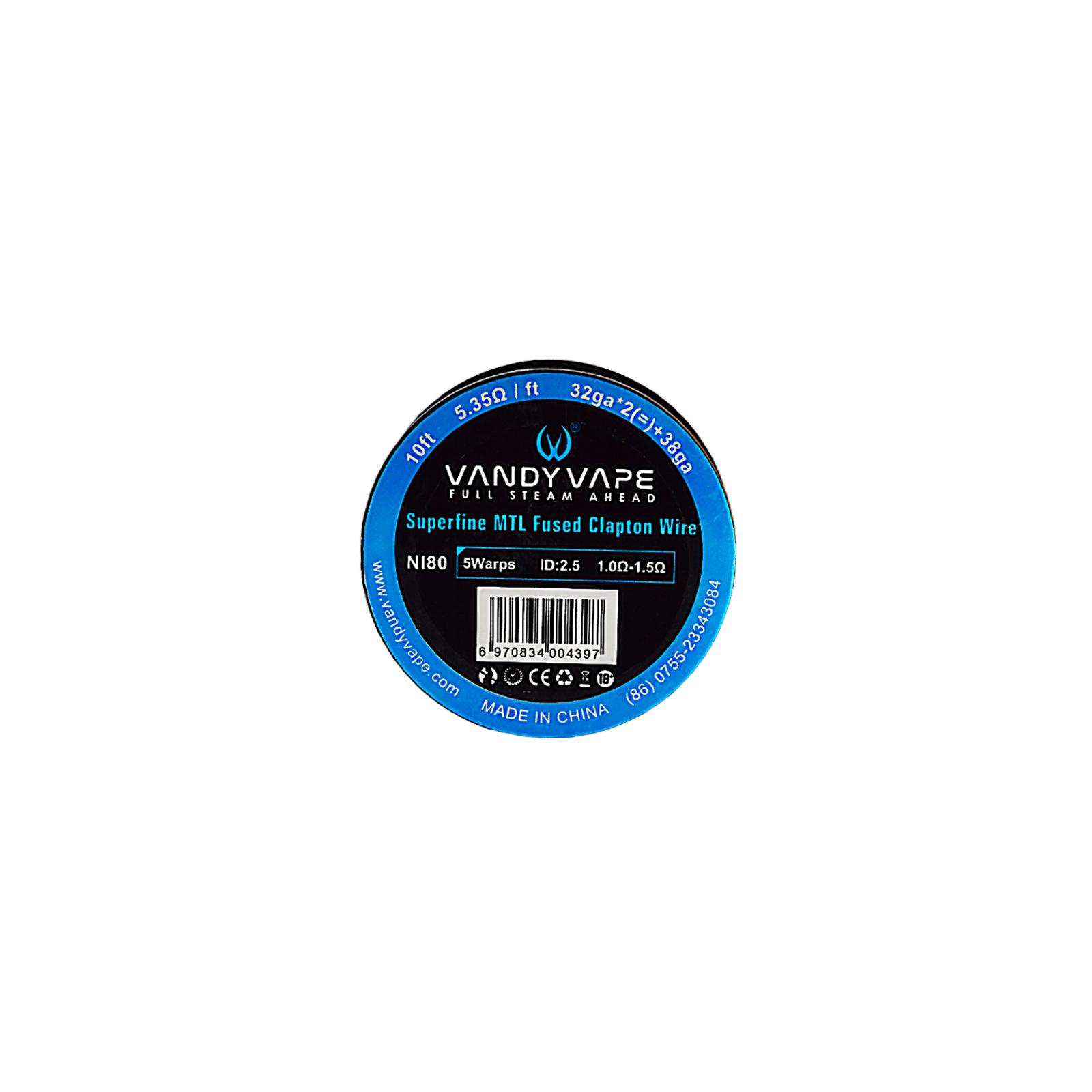 Super Fine MTL Wire Ni80 32GA*2 + 38GA - Vandy Vape
