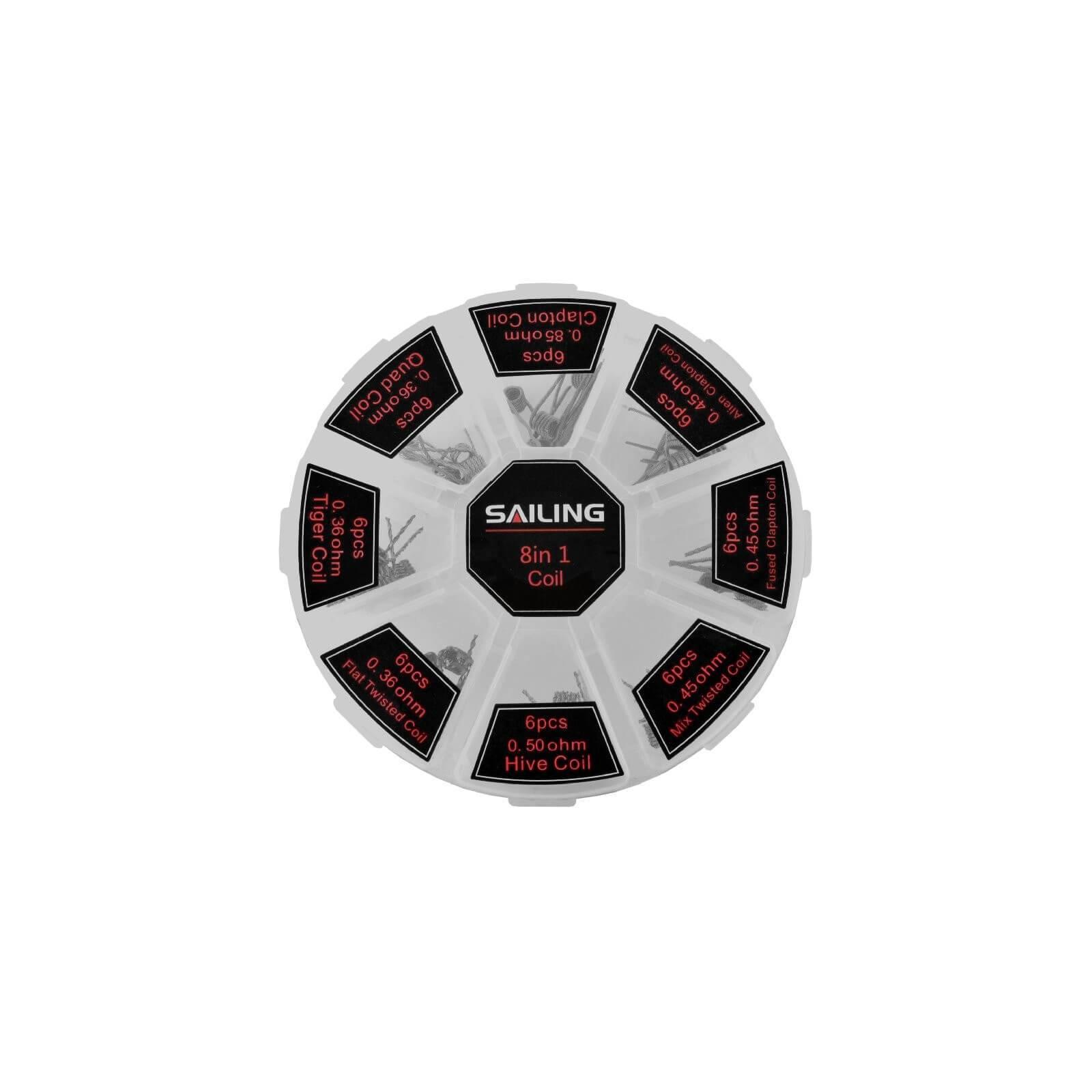 Boite de résistances pré-montées 8in 1 Coil - Sailing