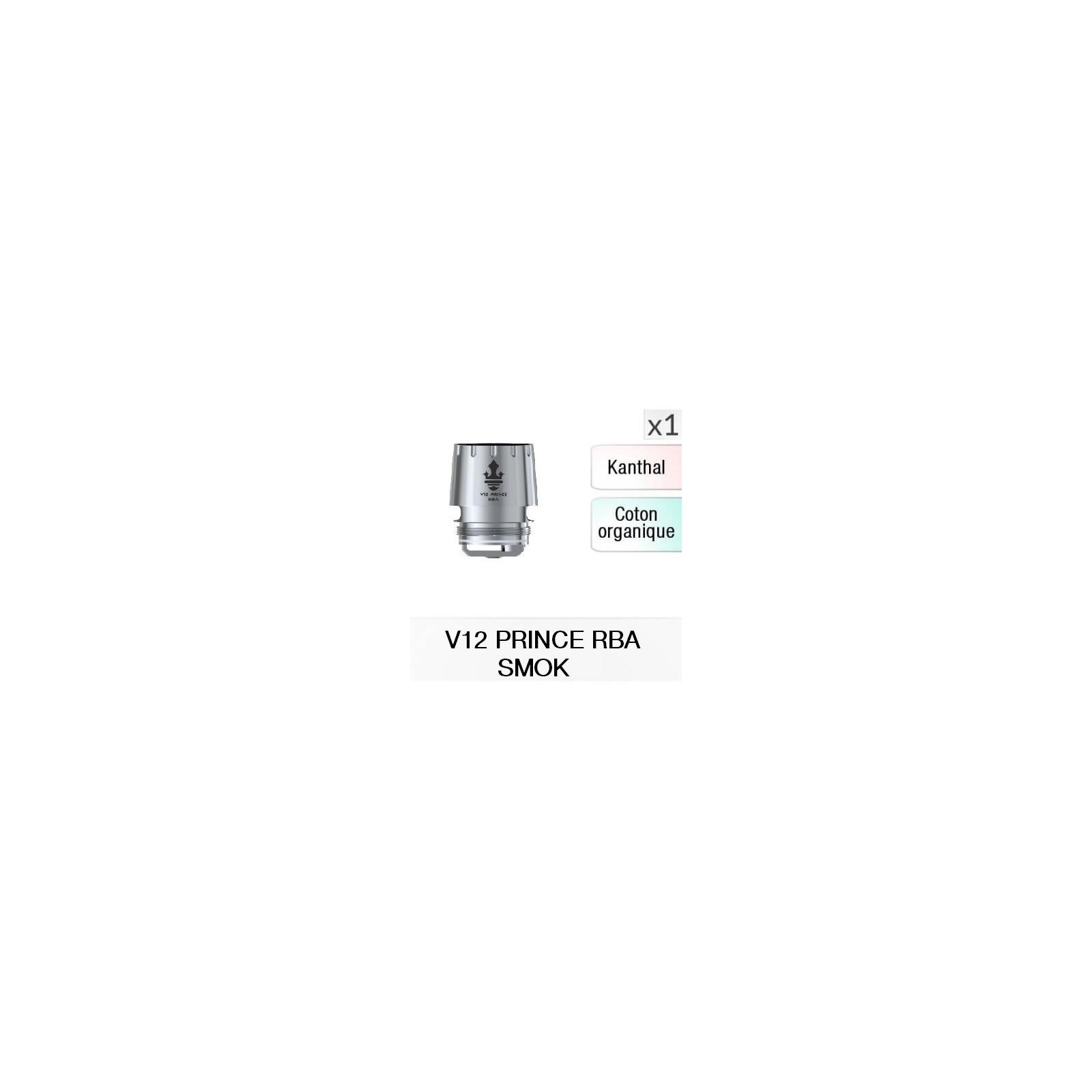 Résistance V12 Prince RBA / 1 Pièce - SMOKTECH